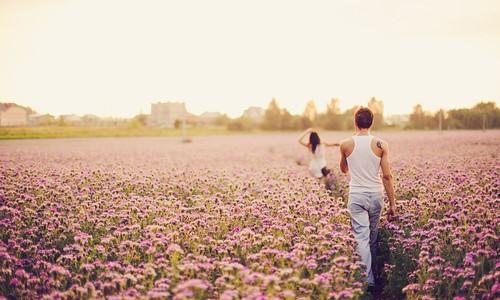 Фото влюбленных весной