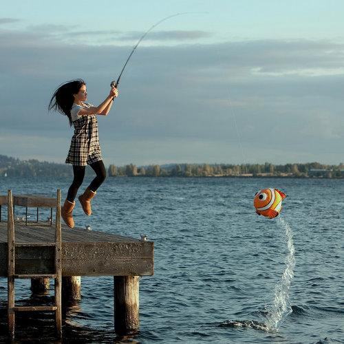 романтичное фото на рыбалке