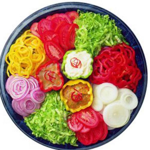 красивая овощная тарелка с фото